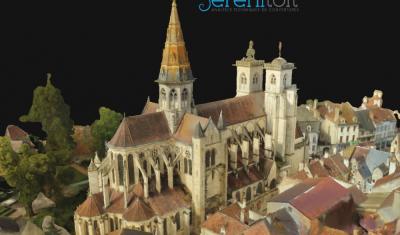métré église par drone dans le 21 (côte d'or)
