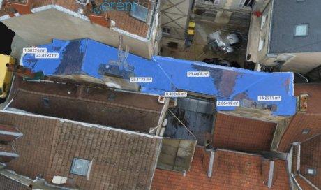 Aperçu de la modélisation 3d d'une toiture à DIJON