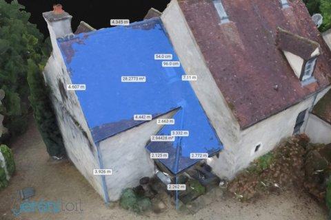 Aperçu de la modélisation 3d d'un toit à SEMUR en AUXOIS