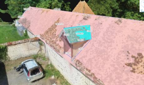 Métré de toiture par drone, secteur de AVALLON (89)